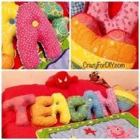 Rainbow Letter Pillows