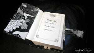 Bible inside cover