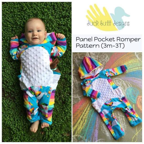 Panel Pocket Romper