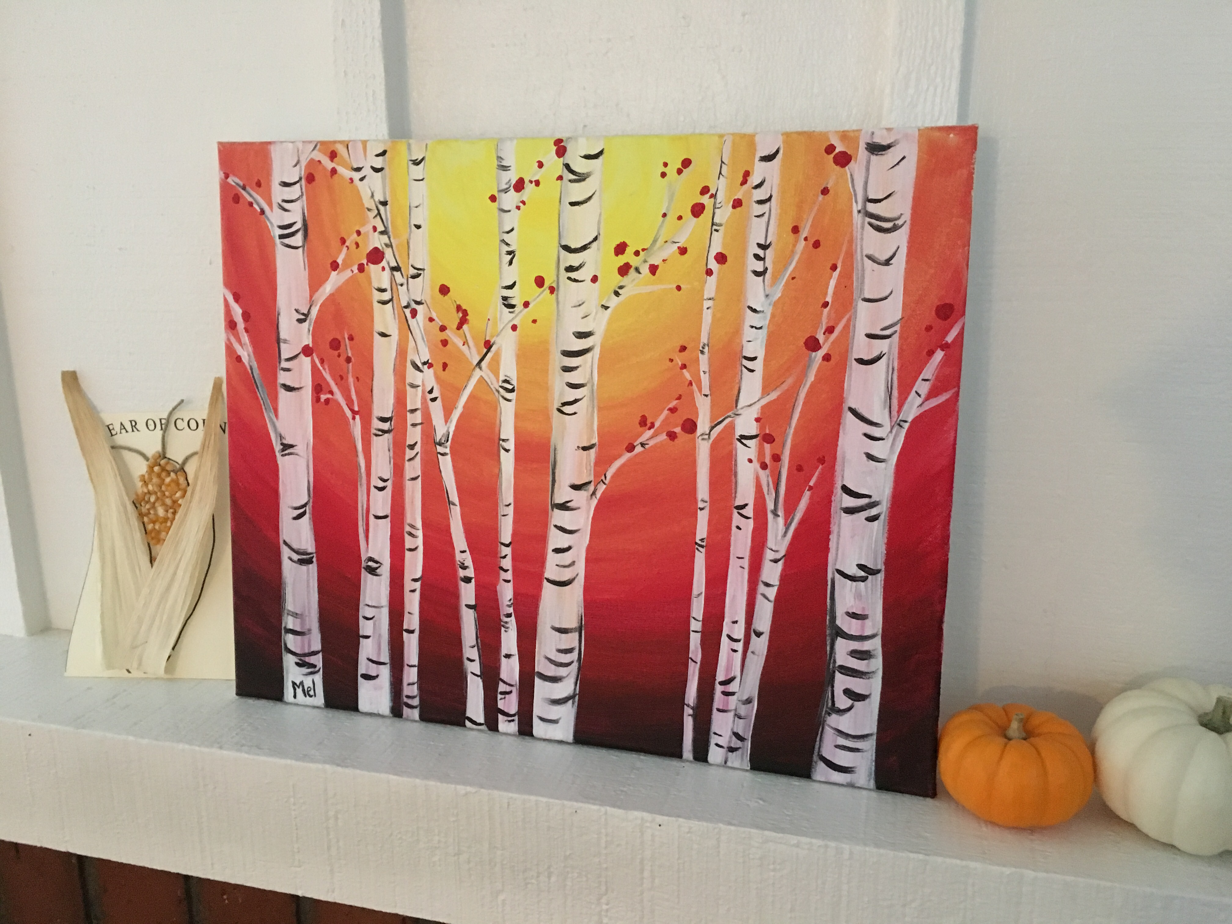 Such A Fun Painting It Goes So Nicely Over The Fireplace For Fall