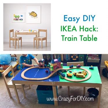 Perfect IKEA Hack Train Table