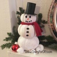 Festive Snowman Pumpkin