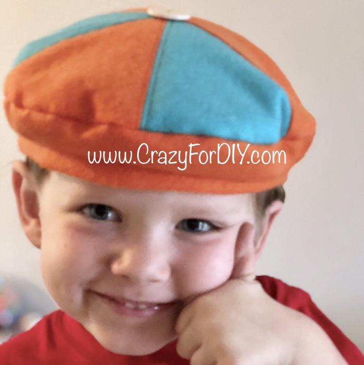 BLIPPI HAT ORANGE AND BLUE CHILD BLIPPI FAN