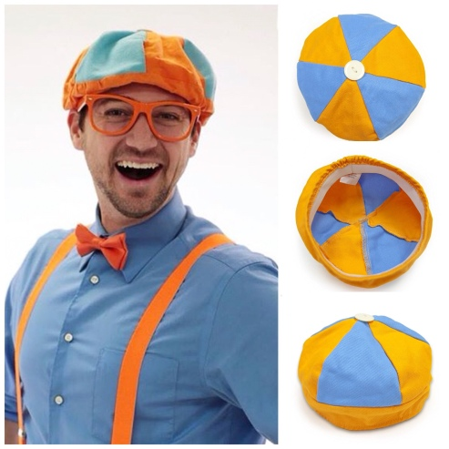 0f28e00a944ae Blippi Felt Hat Beret DIY – Crazy for D.I.Y.