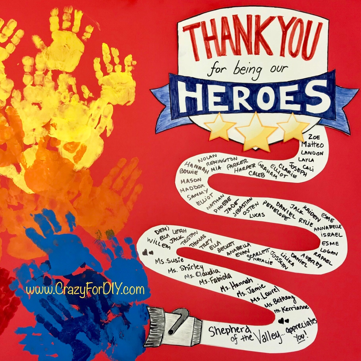 Firefighter Thank You Card DIY