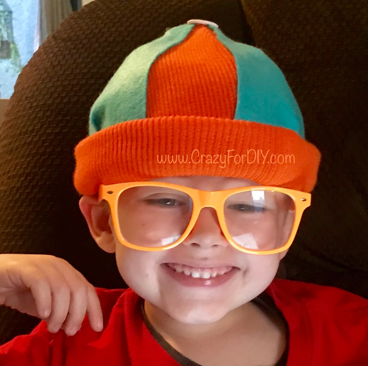 73e4f22837656 Blippi Felt Hat Beret DIY – Large Size – Crazy for D.I.Y.