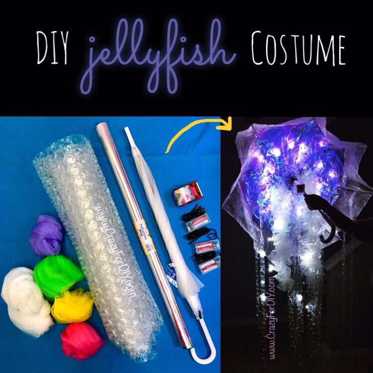 Diy Jellyfish Costume Crazy For D I Y